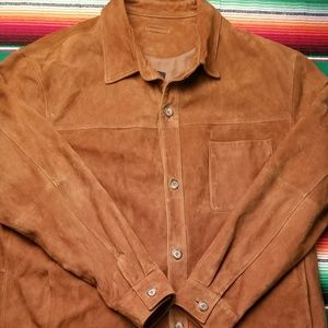 Brooks Brothers suede shirt jacket